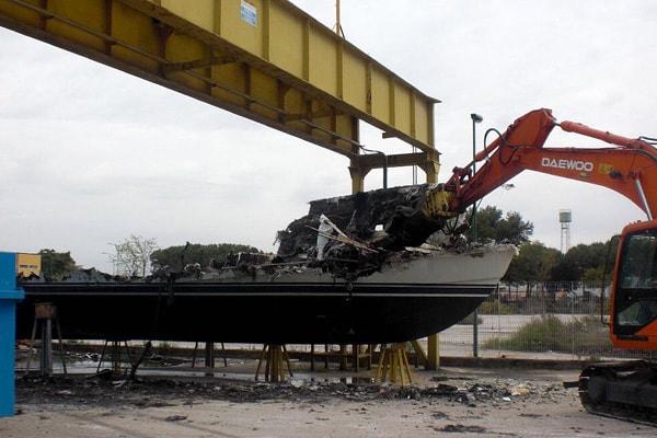 disfacimento barche